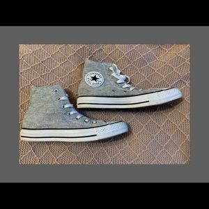Gray/Silver Shimmer Converse Women's 6.5 Worn 2x
